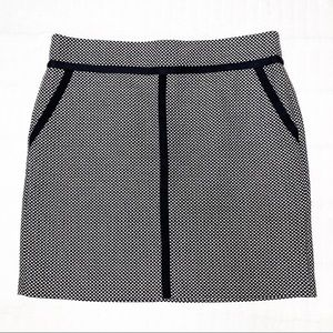 Loft Black & White Tweed Skirt with black trim 12